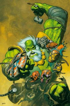 HULK-FUTURE IMPERFECT#2-VARIANT COVER By:Rafa Garres
