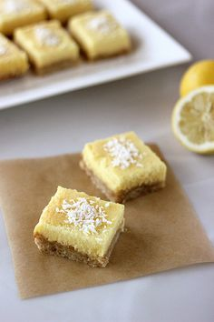 Meyer Lemon Bars – Gluten-free, Grain-free, Dairy-free   Refined Sugar-free // Tasty Yummies