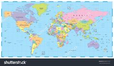 World map with coordinates casa pinterest today images and colored world map borders countries and cities illustration image contains next layers gumiabroncs Image collections