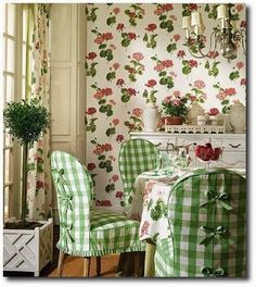 the green & pink cottage .. X ღɱɧღ ||The French Tangerine: ~ slip into spring