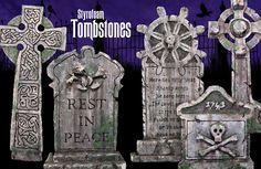 Tombstones - How to make styrofoam tombstones