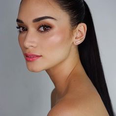 mil Me gusta, 593 comentarios - Pia Wurtzbach Pia Wurtzbach Makeup, Makeup 101, Makeup Looks, Monochromatic Makeup, Everyday Makeup Routine, High Ponytails, How To Apply Mascara, Glossy Lips, Simple Makeup