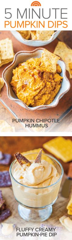 Get your pumpkin on with these sweet and savory 5-minute dips