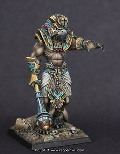 Sokar's Avatar by Reaper Miniatures, painted by Angela Imrie.