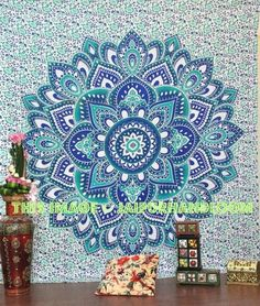 college room decor ideas green ombre cheap dorm room tapestries on sale