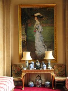 Full portrait of Consuelo Vanderbilt. c.1900. Still hanging in the residence at Blenheim Place, England. Where she lived, when she was the Duchess of Marlborough.