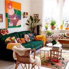 boho home decor Even if you decide to go with a greater bohemian style, you can nevertheless deliver a bout of femininity to the mix. Sprinkles coral and cream as the independent basis and you will straight away add a bit of delicacy to the room! Colourful Living Room, Boho Living Room, Living Spaces, Jewel Tone Living Room Decor, Cozy Eclectic Living Room, Retro Living Rooms, Bohemian House, Bohemian Style, Bohemian Bedrooms