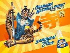 tiger x samurai = Orangina citron flavor???