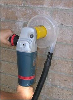 The Dust Muzzle DC used on a wall.                                                                                                                                                      Más #woodworkingtools