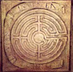 Labyrinthe de Salomon Le labyrinthe de Salomon, signe de l'existence indéfinie et de la mutabilité de la matière, caisson de la galerie du château de Dampierre-sur-Boutonne.