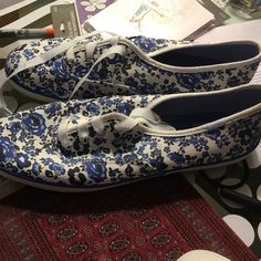 Floral pattern Keds Cutest Keds ever! Never worn, size 8.5. keds Shoes Sneakers