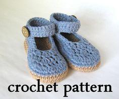 Baby Ballet Flats Crochet Pattern Picture by BeautifulPurpose, $4.99