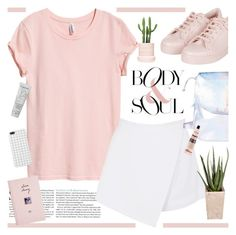 """""""Nature... is nothing but the inner voice of self-interest."""" by novalikarida ❤ liked on Polyvore featuring Topshop, H&M, BeginAgain Toys, PLANT, ASOS, Lancôme and Aesop"""
