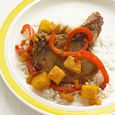 Slow Cooker Pineapple-Ginger-Glazed Pork Chops