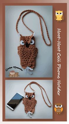 "I added ""Free pattern for Hoot-Hoot Cell Phone Holder"" to an #inlinkz linkup!http://www.crochetmemories.com/blog/hoot-hoot-cell-phone-holder/"