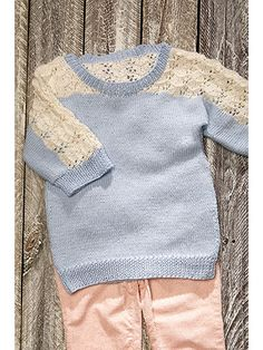 Baby & Kids Knit Downloads - Begonia Lace Tee Knit Pattern