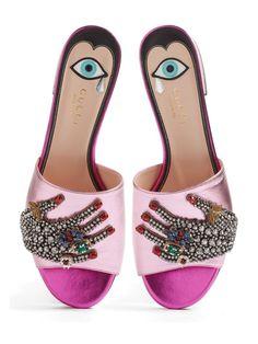 Gucci Jeweled Slides (obsessed!!!!!)