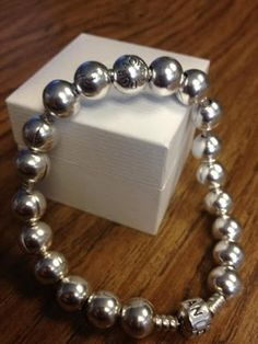 Pandora bracelet filled with smooth clips, cute!