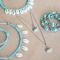 Seashell Jewelry, Seashell Necklace, Diy Necklace, Cute Jewelry, Boho Jewelry, Beaded Jewelry, Jewelery, Jewelry Design, Fashion Jewelry