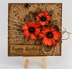 Card from recycled paper