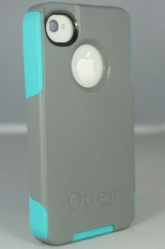 Otterbox-Commuter-Case-Authentic-iPhone-4-4S-Grey-Teal-New-In-Retail-Package