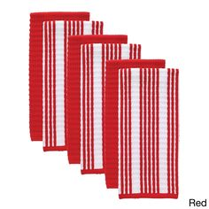 T-fal Textiles 6 Pack & Stripe Waffle Terry Kitchen Dish Towel Set