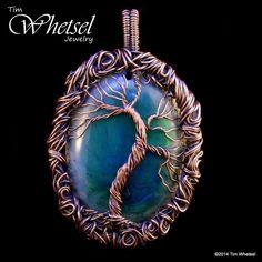 Wire Wrapped Tree Pendant - Orgone - Glow in the Dark - ©2014 Tim Whetsel - TDWJewelry