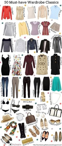 The classic wardrobe must haves. ( more classic than my Boho style but still there's some good ideas here)