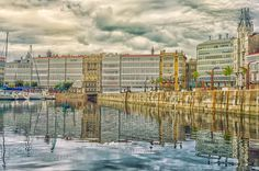 Reflejos en la dársena by Uxio #architecture #building #architexture #city #buildings #skyscraper #urban #design #minimal #cities #town #street #art #arts #architecturelovers #abstract #photooftheday #amazing #picoftheday