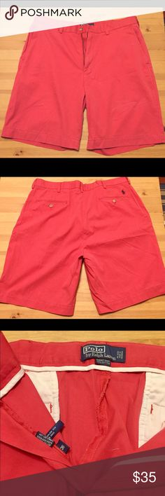 """Ralph Lauren Nantucket Red Shorts - 10"""" inseam Nantucket red shorts with a 10"""" inseam. Lightly worn with no signs of wear and tear. Polo by Ralph Lauren Shorts Flat Front"""