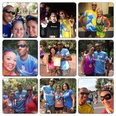 A collage of some of the fun folks I met during Disneyland half marathon weekend 2013