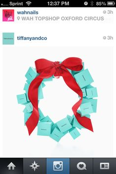 I love this, mainly because it is the colors for my wedding :) Tiffany Blue and Red for a Christmas wedding