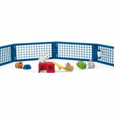 Schleich Rabbit and Guinea Pig Hutch provides a great environment for animal play and encourages role play. Rabbit and Guinea Pig Hutch also includes separate rabbit pen. 42500 by Schleich Guinea Pig Run, Guinea Pig Hutch, Guinea Pig Toys, Reptile Cage, Reptile Enclosure, Rabbit Pen, Homemade Cat Toys, Exotic Fish, Horse Care