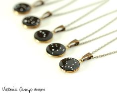 Set of 5 Personalized Zodiac Constellation by VictoriaCampDesigns, $112.50