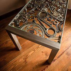 Steel Coffee Table Custom Furniture Engine Parts Table