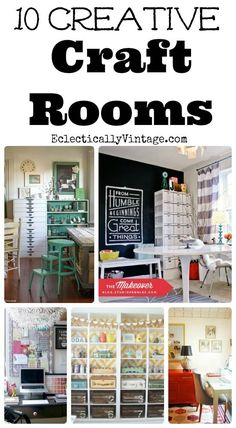 Creative Craft Rooms with Style! 10 Creative Craft Rooms with Style! - tons of storage & decorating ideas! 10 Creative Craft Rooms with Style! - tons of storage & decorating ideas! Craft Room Storage, Craft Organization, Craft Rooms, Diy Organizer, Kids Rooms, Storage Ideas, Space Crafts, Home Crafts, Craft Space