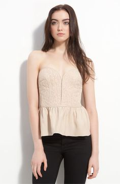 <3 This Parker Nude lace bustier!