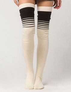 a40390672 FREE PEOPLE Bowlers Thigh High Socks - IVORY - F651A722