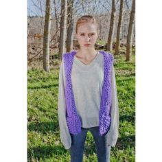 Handknit Purple Wool Vest with Pockets | Memory Vest by We Are Knitters