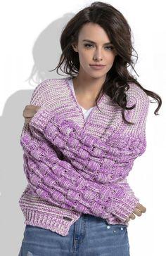 Cardigan maneci bufante Este un cardigan tricotat,calduros Prettymoda. Cardigan, Ruffle Blouse, Tops, Women, Fashion, Tricot, Moda, Women's, Fashion Styles