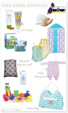 We're a Baby Beach Essential! Perfect items for beach baby #beautifulbabyshower