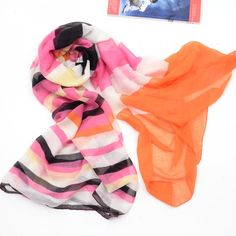 fashion pink color piece style scarf