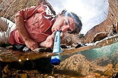 This is the filter you've been hearing about. The Lifestraw has earned its chops in Africa--saving lives and reducing disease fatalities over the last several years. Every Lifestraw sold gives 1 year