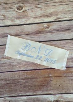 Monogrammed Something Blue Wedding Dress Label By Elegant Monograms  Our wedding dress labels add just a little extra layer of personalization and sentiment to your wedding day.