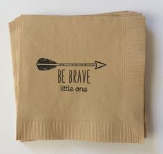 Be Brave Little One Arrow Baby Shower Cocktail Napkin, Set of 50