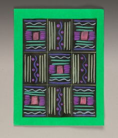 African Asimevo Cloth lesson plan- crayola- project for the Africa box when we study continents