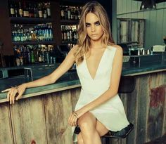 Cara Delevingne....I believe this girl is amazing cause besides being a very very very beautiful girl...she's not afraid of doing What want and showing everybody what she thinks....and maybe she's not the best rol model but still I thinks we always can learn from her at least something......