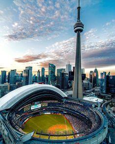 CN Tower w/ Skydome, Toronto Toronto Canada, Toronto City, Canada Ontario, Canada Canada, Toronto Travel, Vancouver, Quebec, Torre Cn, Ottawa