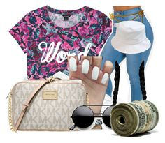 """""""•"""" by maryjanetower ❤ liked on Polyvore featuring Monki, Chanel, adidas and MICHAEL Michael Kors"""