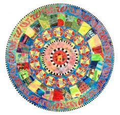 Artist Virginia Fleck Virginia Fleck uses plastic bags to create beautiful colorful mandalas.